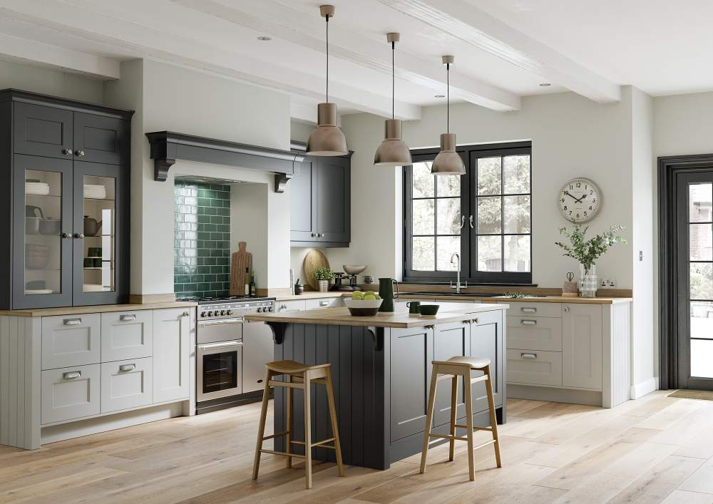 Beautiful Florence Graphite and Light Grey Kitchen