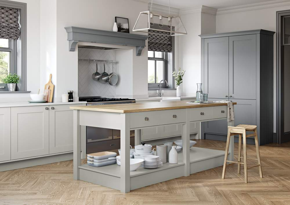 Georgia Light Grey and Dust Grey Kitchen