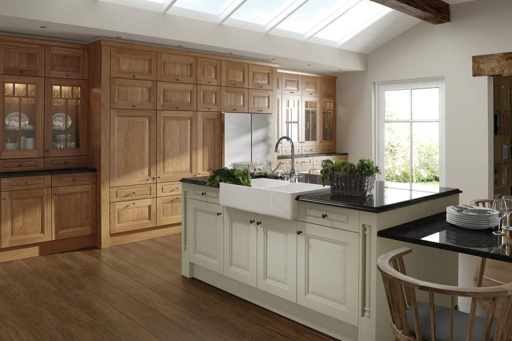 Jefferson Oak and Ivory Kitchen