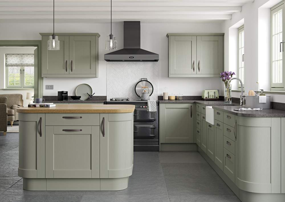 Kensington Painted Sage Green Kitchen