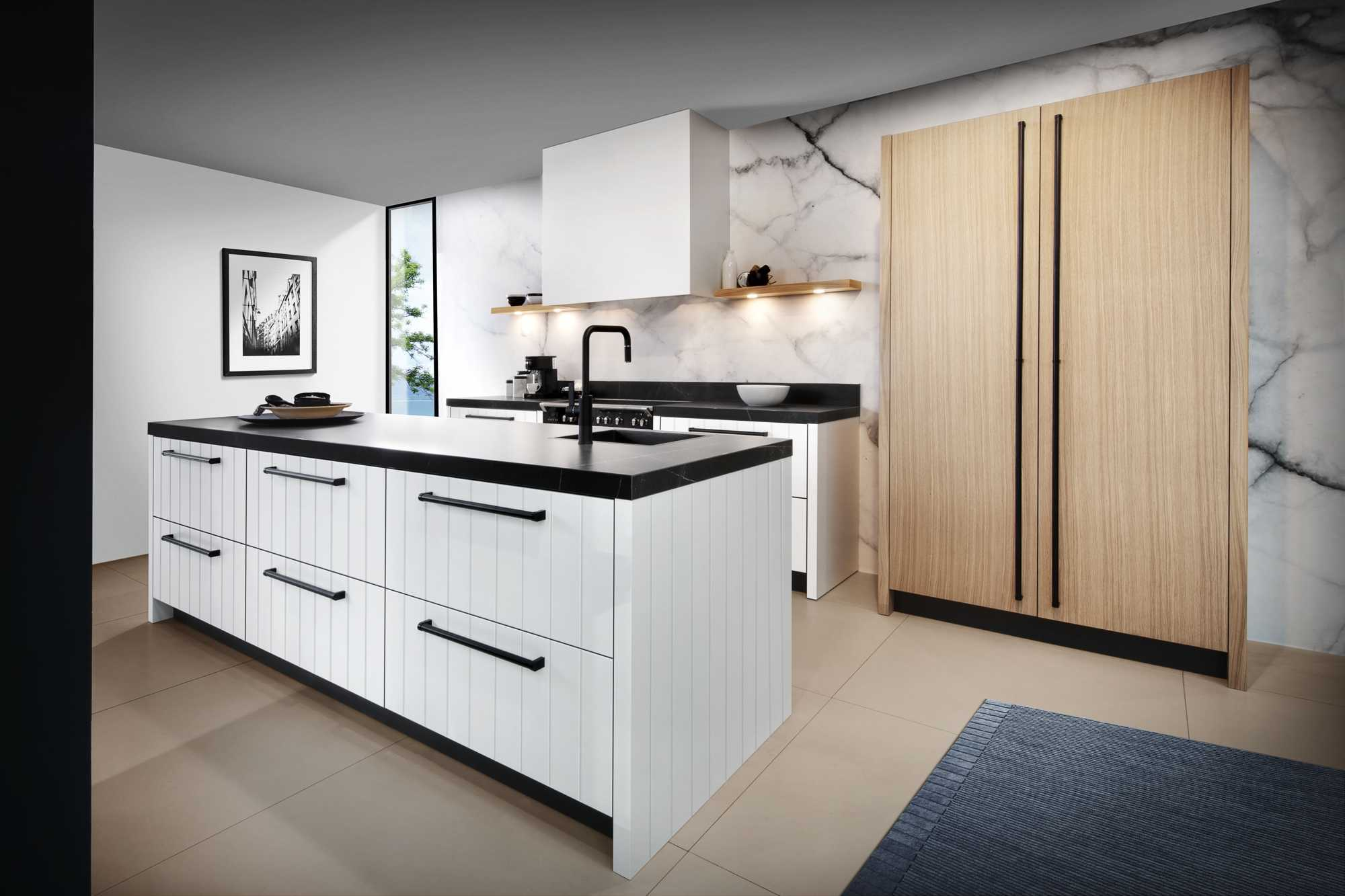 Duett WhiteLX and Memory CL New Forest Oak Kitchen