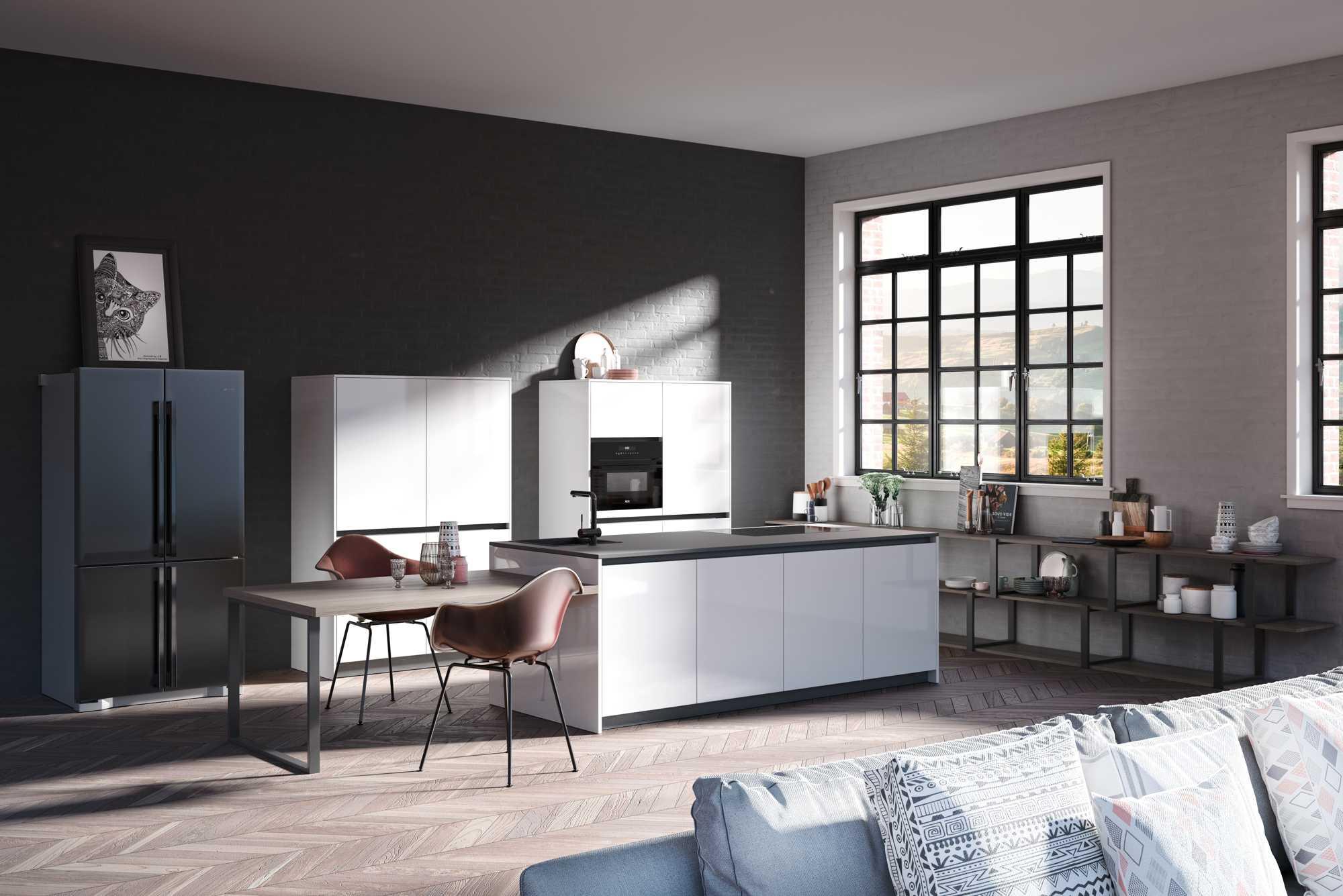 ZeroxSnow HL and ZeroxEdition Fine MattDark Concreto Kitchen
