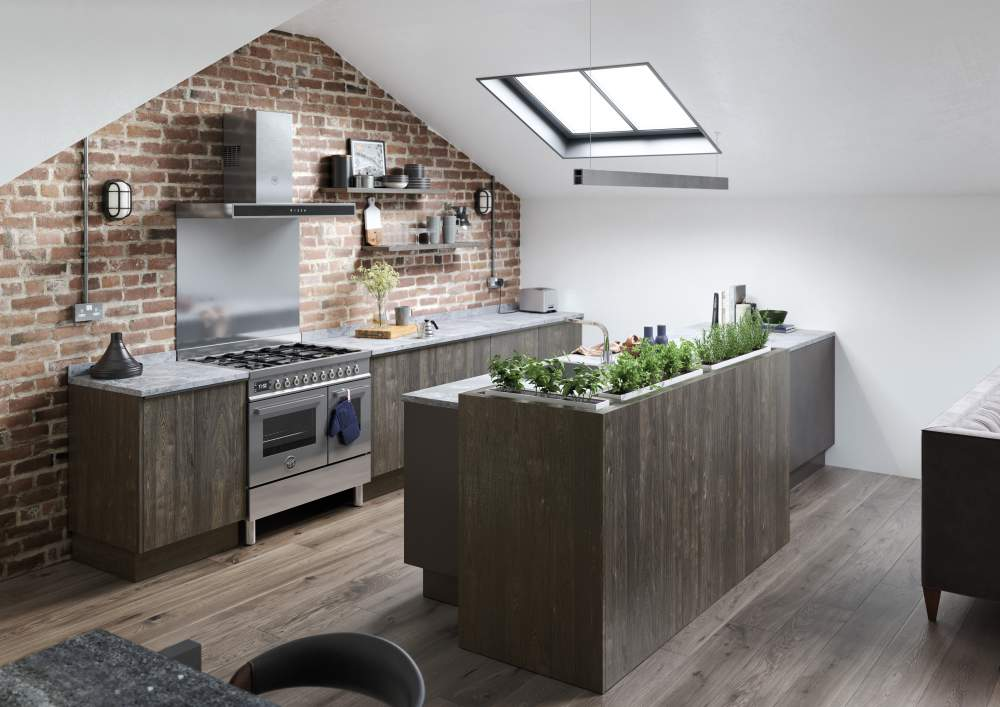 Modern contemporary Rezana Carbon and Ferro Iron Kitchen