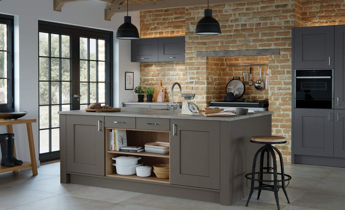 Classic Traditional Clonmel Lava Graphite Kitchen