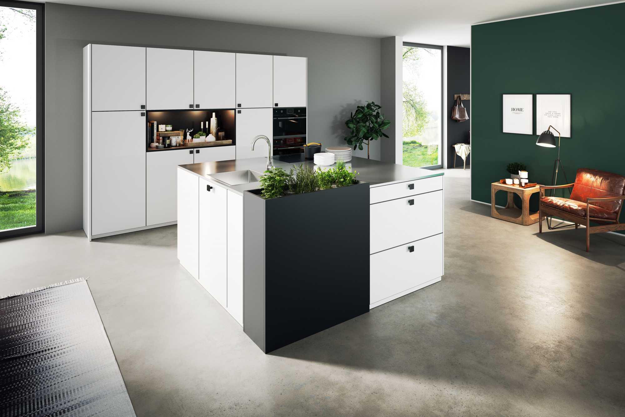 Zerox Snow German Rotpunkt Kitchen With a Stunning Island